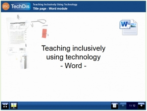Screenshot showing an LO about Teaching inclusively